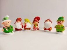 Zselés karácsonyi manók - piros csíkos sapkás