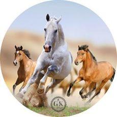 Dekorációs ostya vágtázó lovak