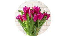 Dekorációs ostya - Tulipános