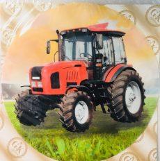 Dekorációs ostya - Piros traktor