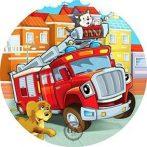Dekorációs ostya - Tűzoltóautós