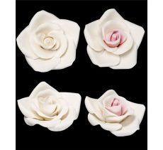 Cukorvirág rózsa XL fehér-rózsaszín