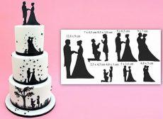 Esküvői sziluett 9db