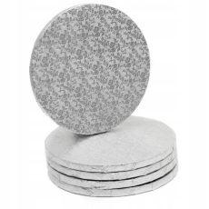 Tortadob ezüst 45 cm