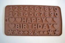 Csokiforma számok, betűk