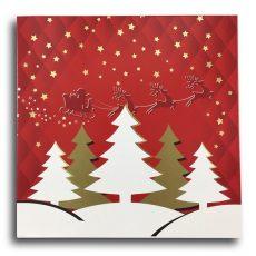 Süteményes doboz karácsonyi 22.7*22.7*6 cm.