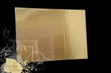 Tortaalátét 30*40 cm Standard arany