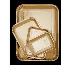 Tortaalátét papírtálca arany 20*14 cm