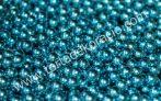Cukorgyöngy - metál kék 6 mm