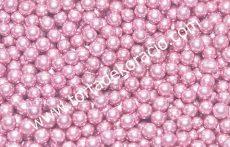 Cukorgyöngy - metál pink 5 mm