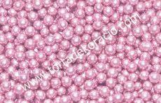 Cukorgyöngy - metál pink 6 mm