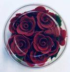 Mini rózsa bordó