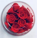 Mini rózsa piros