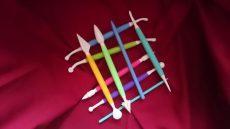 Műanyag formázó pálcikák 9 darabos színes