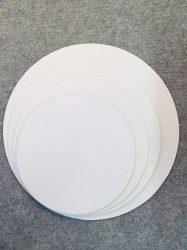 Tortaalátét 20 cm fehér, matt 5 rétegű