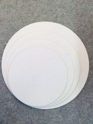 Tortaalátét 25 cm fehér, matt 5 rétegű