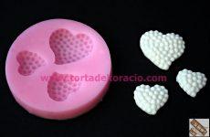 Szilikon 3D 3 szív