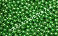 Cukorgyöngy - metál zöld 5 mm