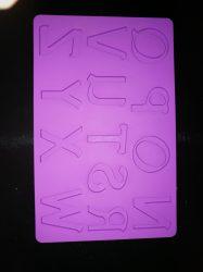 Szilikon betűk N-Z