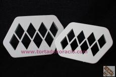 3D hatású négyzethez rombusz kiszúró