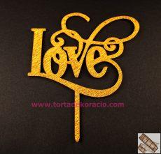 Tortadísz Love - ezüst