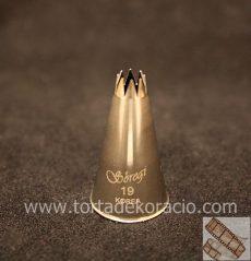 Díszítőcső - 19 csillag 5mm