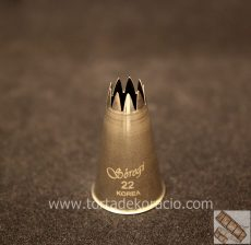 Díszítőcső - 22 csillag 7mm