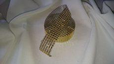 Strasszköves hatású szalag - arany