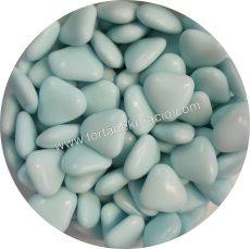 Színes szívecskék - világoskék 200 g