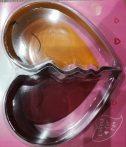Két fél szív formájú tortaforma