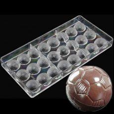 Polikarbonát bonbon forma - focilabda
