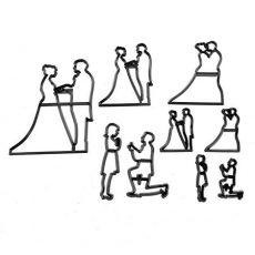 Esküvői sziluett kiszúró 9db 2.