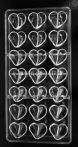 Polikarbonát bonbon forma - Szív
