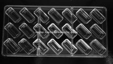 Polikarbonát bonbon forma - Téglalap