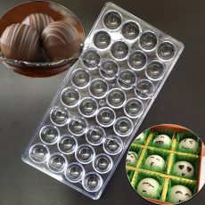Polikarbonát bonbon forma - Közepes félgömb