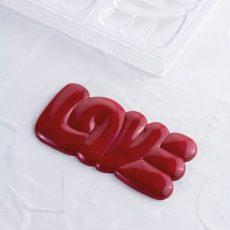 Polikarbonát bonbon forma - Love táblás csokoládé