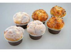 Dekorációs pékáru muffin - porcukros, mágneses