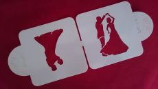 Stencil - Táncoló pár