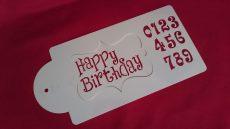 Stencil - Happy Birthday